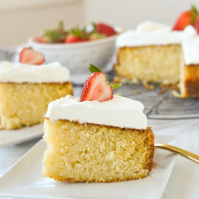 slice of buttermilk cake