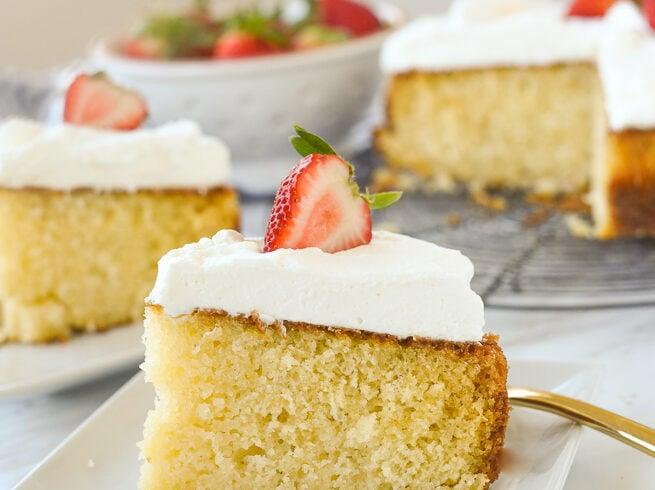 slice of buttermilk cake