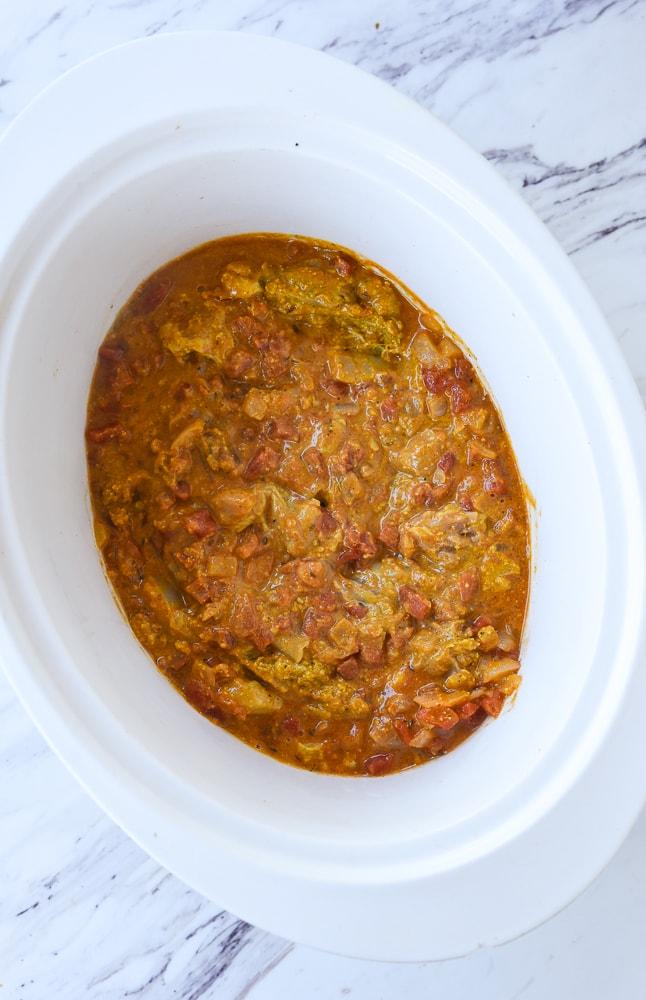 butter chicken in crock pot