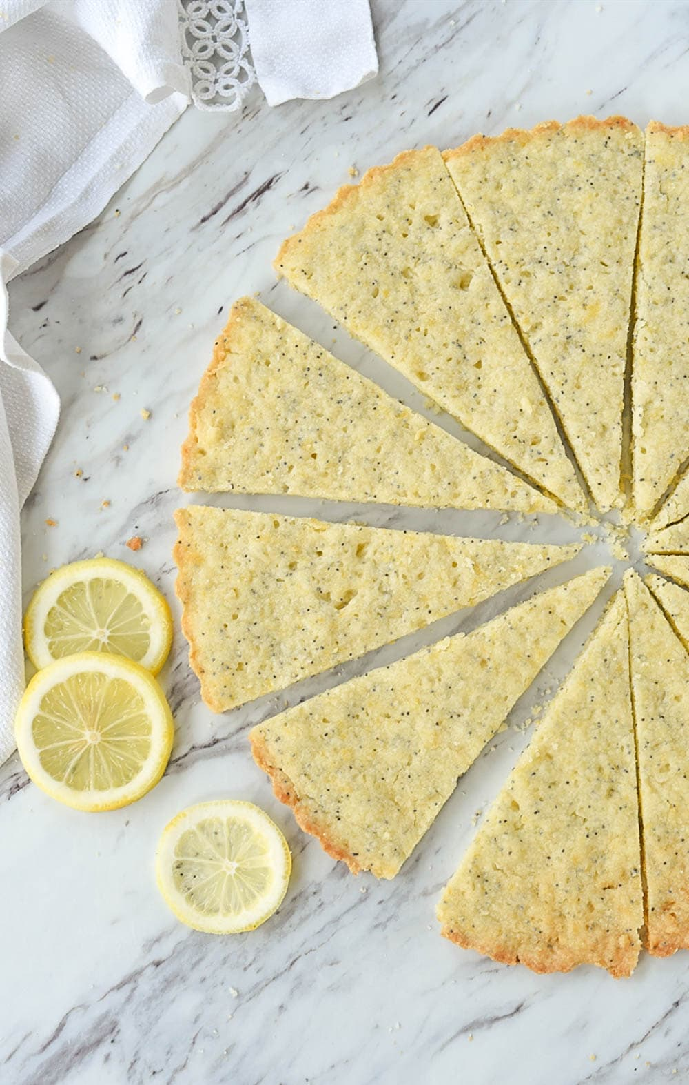overhead shot of lemon shortbread