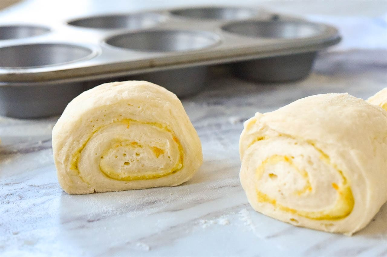 sliced orange rolls