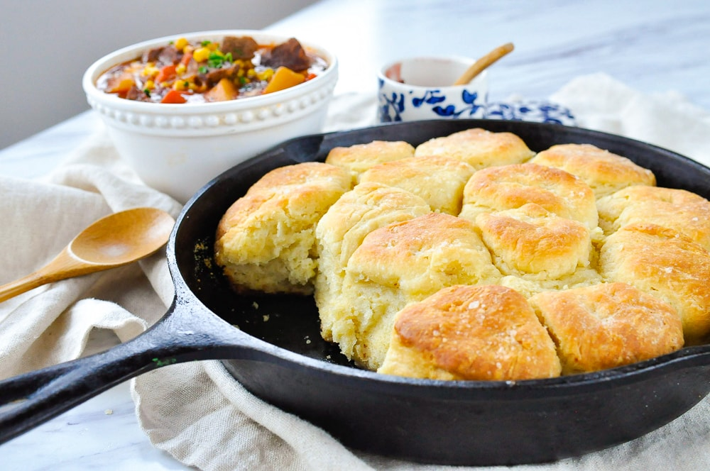 biscuits in a pan