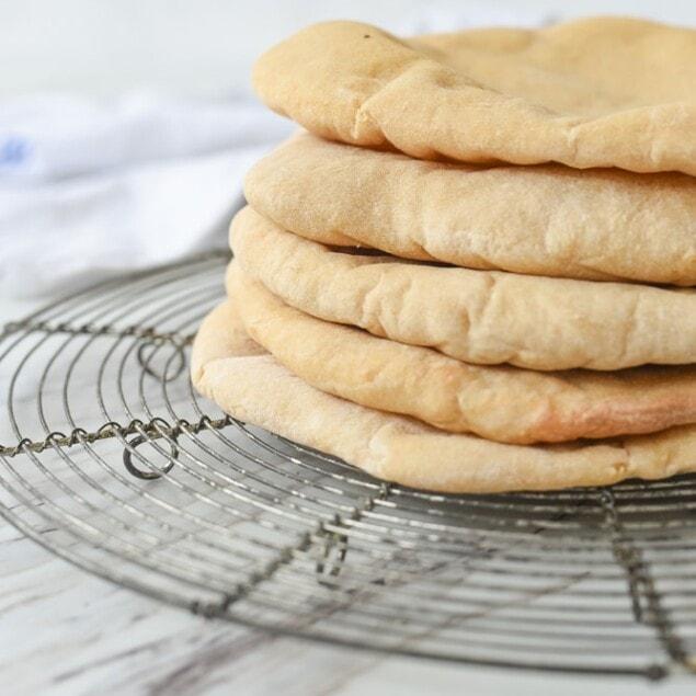 stack of pita bread