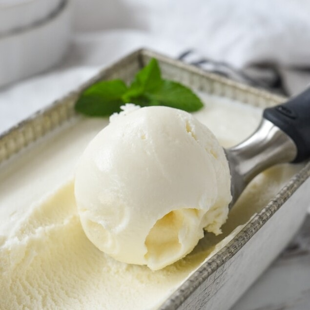 scoop of vanilla ice cream