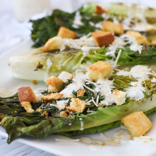 grilled caesar salad with croutons