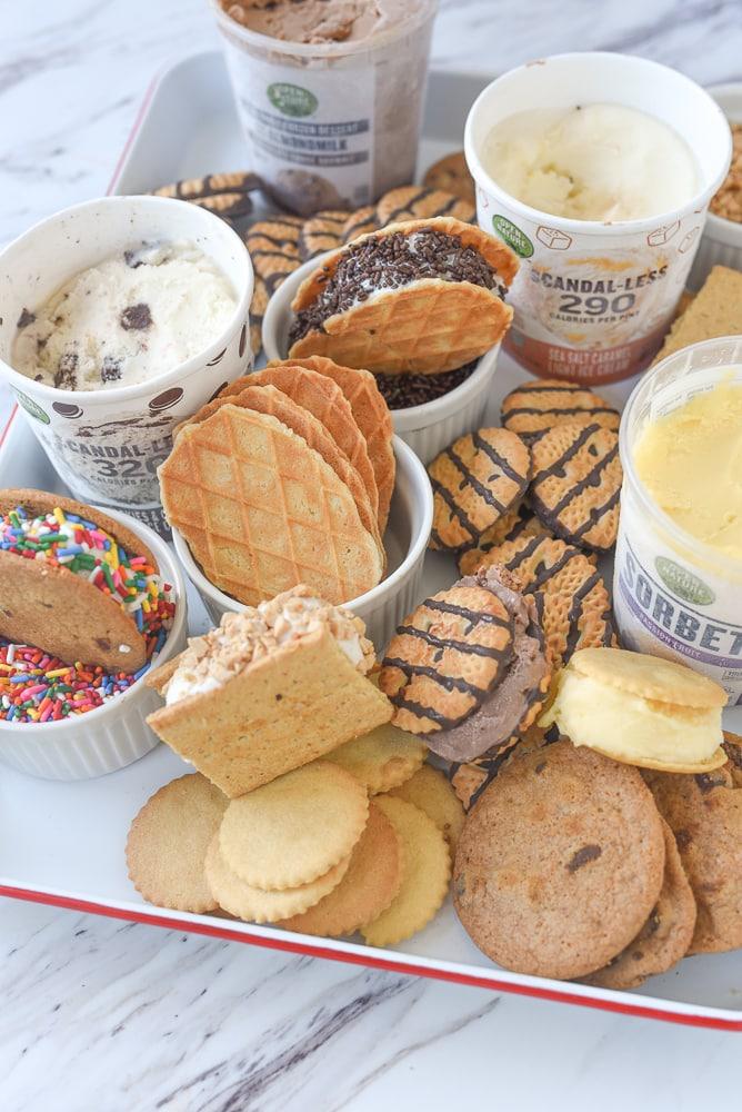 ice cream sandwich snack board ingredients