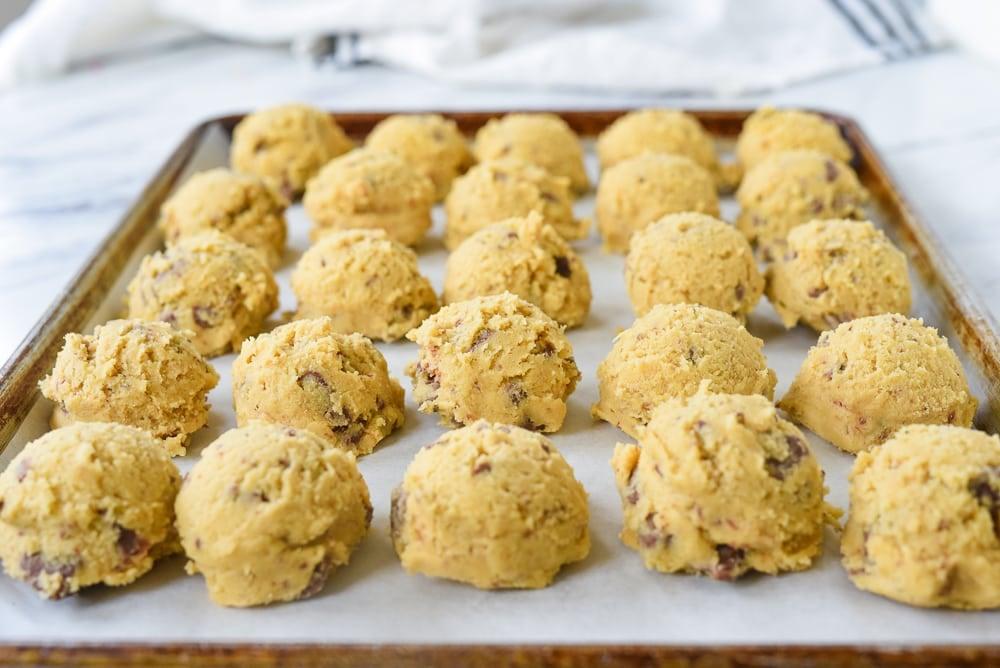 frozen balls of cookie dough