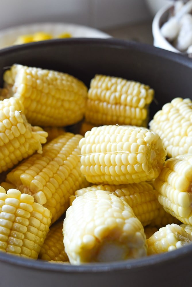 flash steamed corn