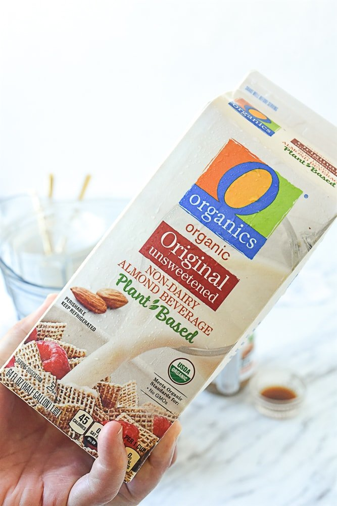 carton of almond milk