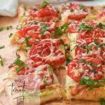 pieces of tomato tart