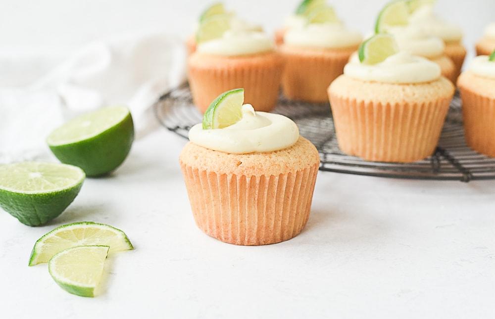 frosted margarita cupcake