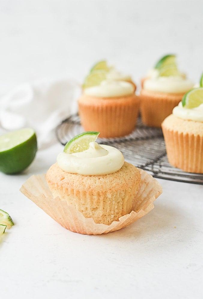 unwrapped margarita cupcake