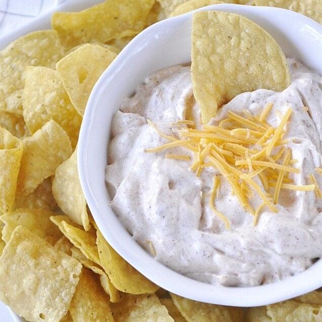 bowl of chili con queso dip