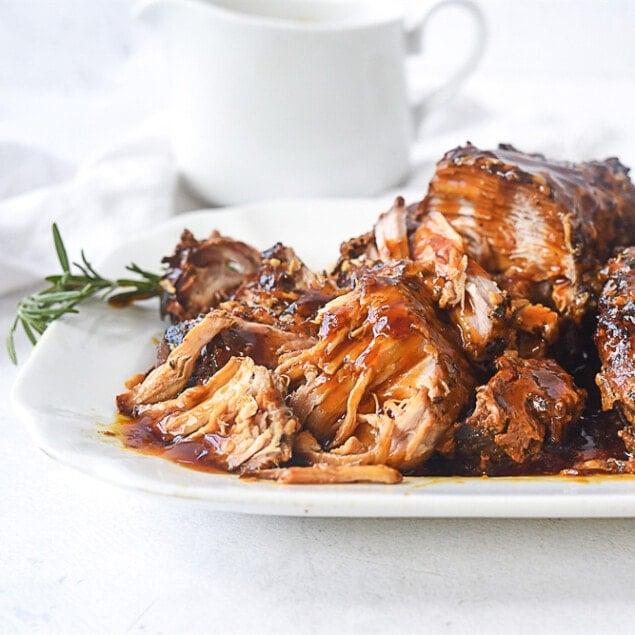 plate of crock pot pork roast