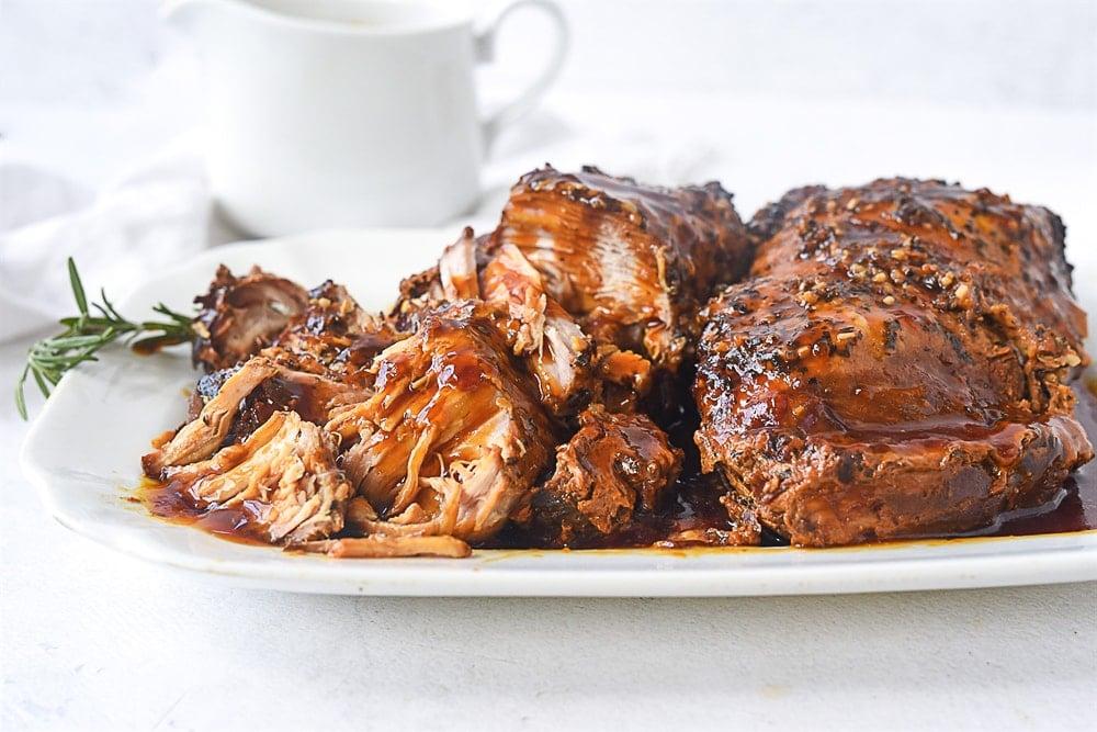 plate of pork roast