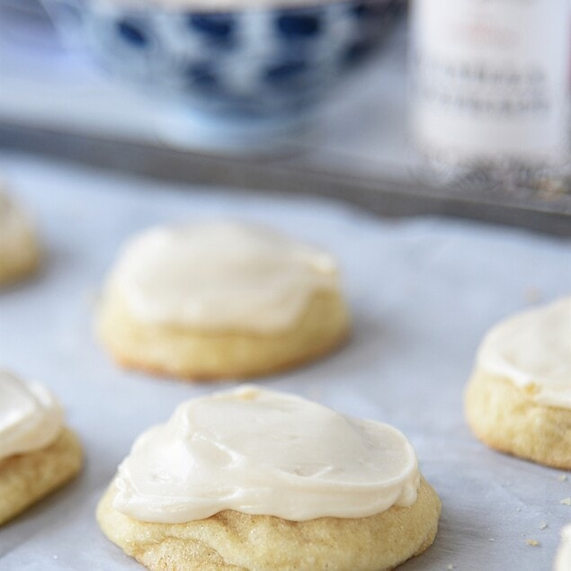 frosted vanilla cookies