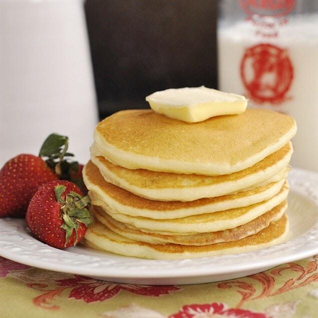 pile of gluten free pancakes