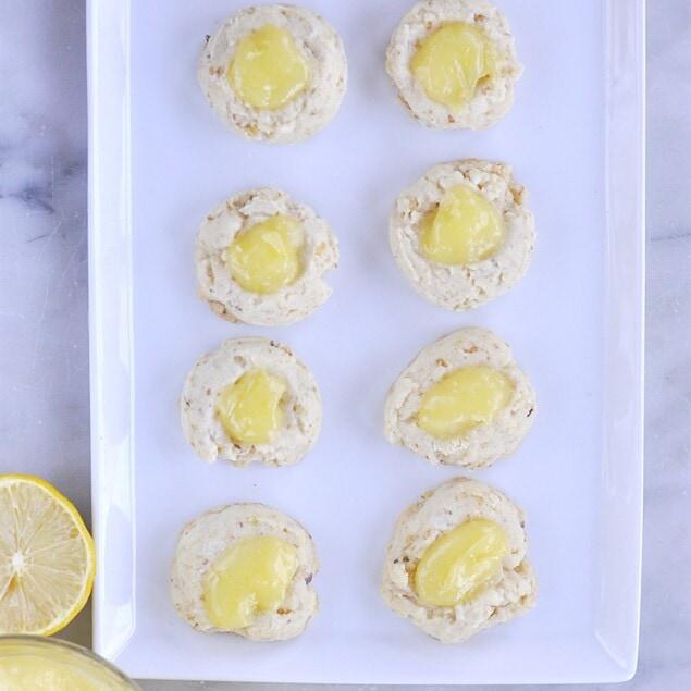 plate of lemon thumbprints