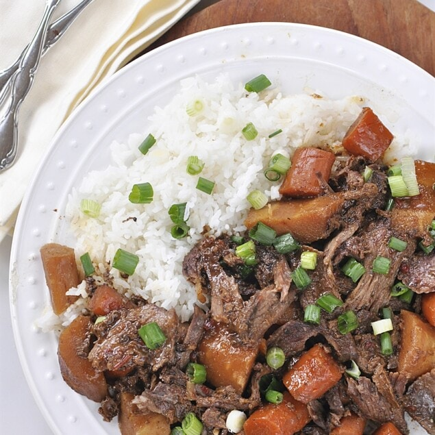 plate of asian pot roast