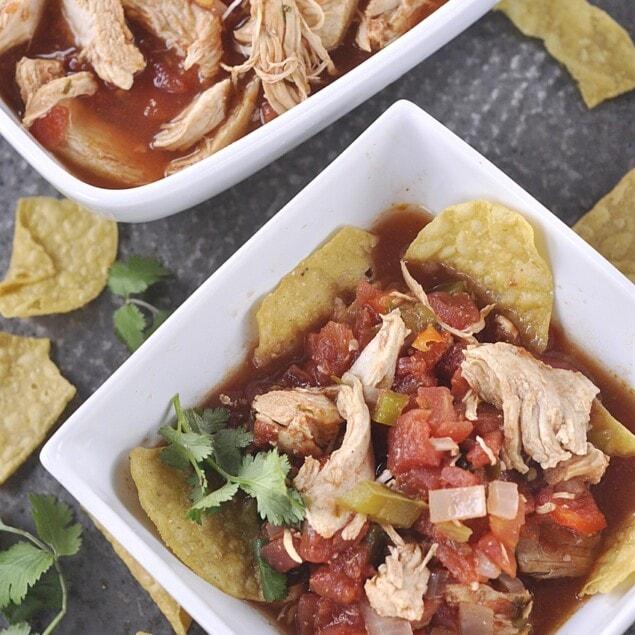 bowl of chipotle chicken stew