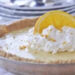 orange pie with whipped cream