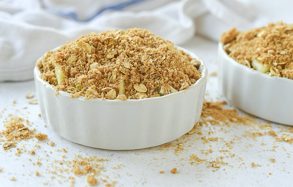 topping on top of apple crisp