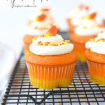candy corn cupcakes with frosting
