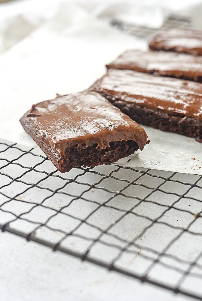 brownie with a bite out of it