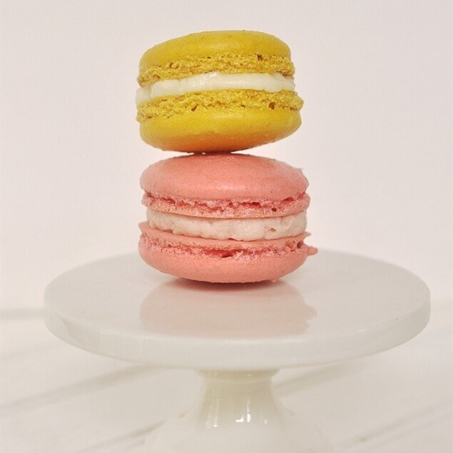 two french macarons