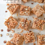 squares of rice krispie treats