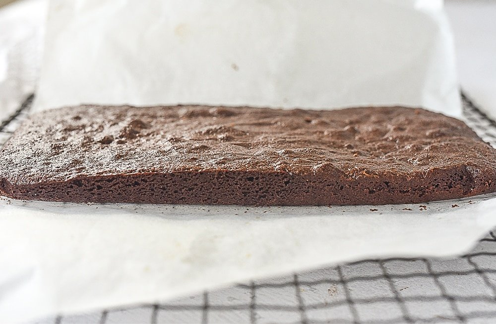 small batch brownies on a cooling rack