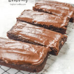 sliced small batch brownies