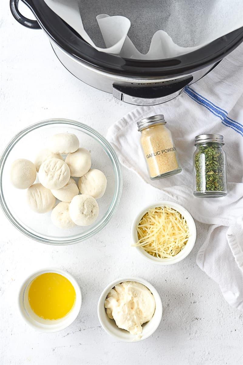 ingredients for crock pot rolls