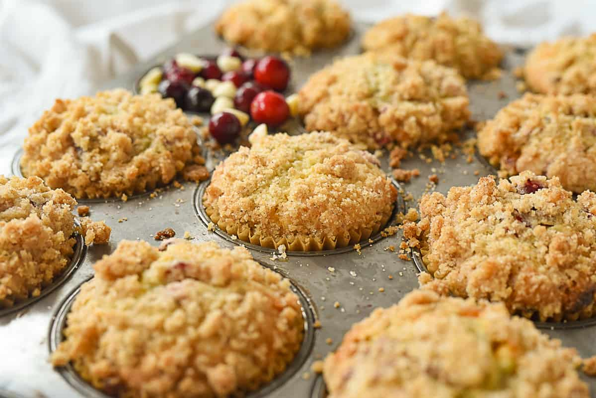 egg nog muffins with cranberries