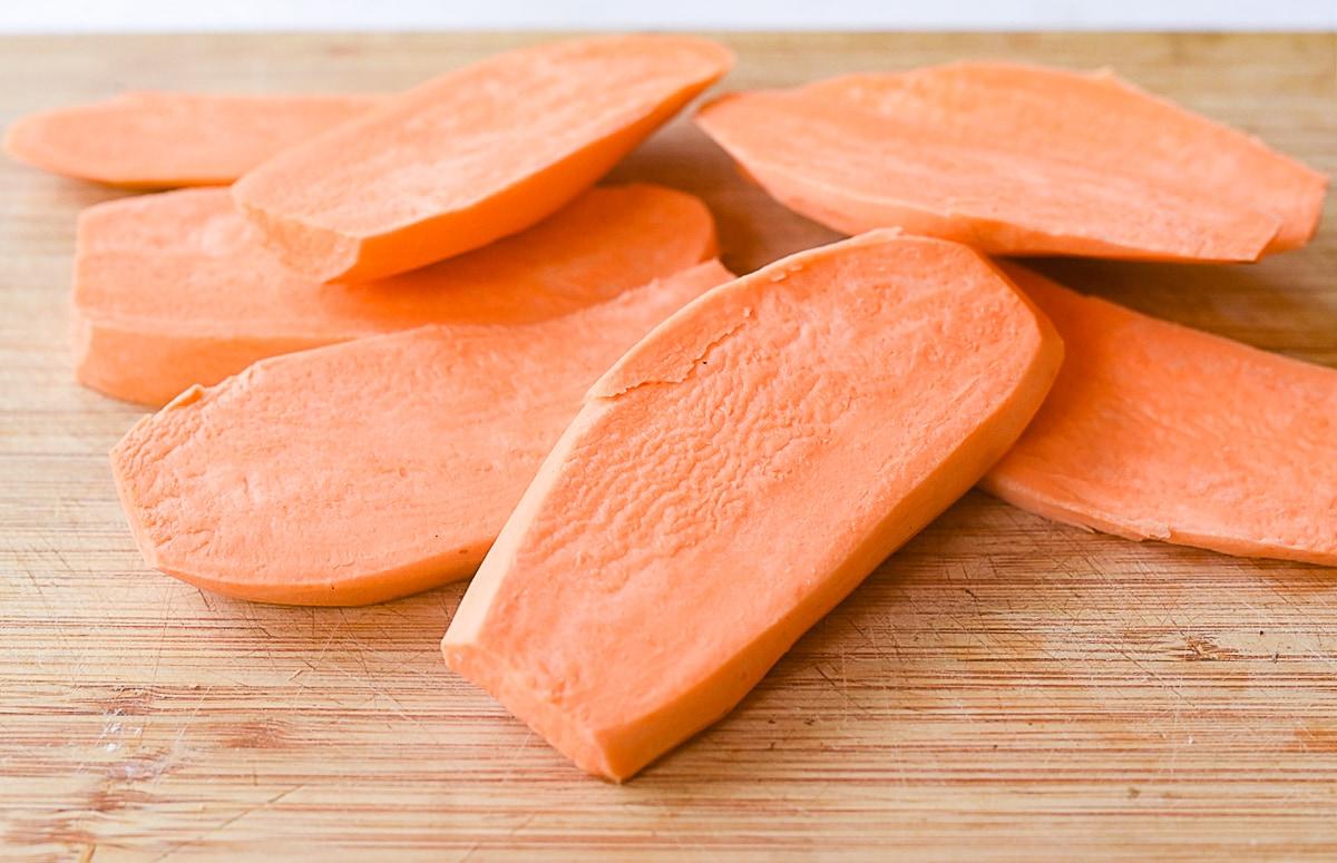 slices of sweet potatoes