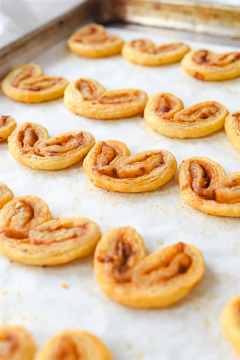 baked savory palmiers