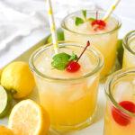 glasses of sparkling lemonade