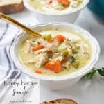 two bowls of turkey soup