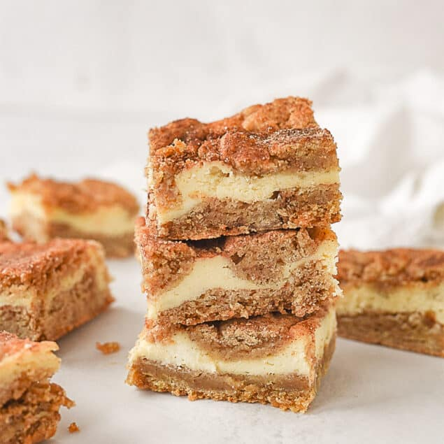 stack of snickerdoodle blondies