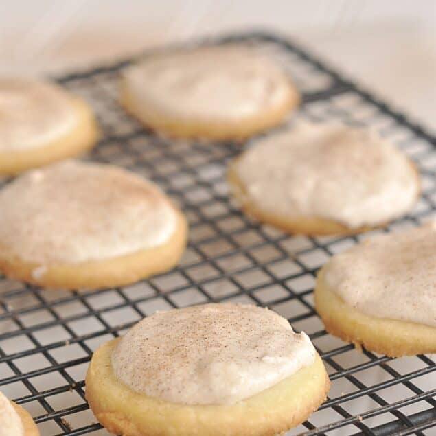 frosted cinnamon butter cookies