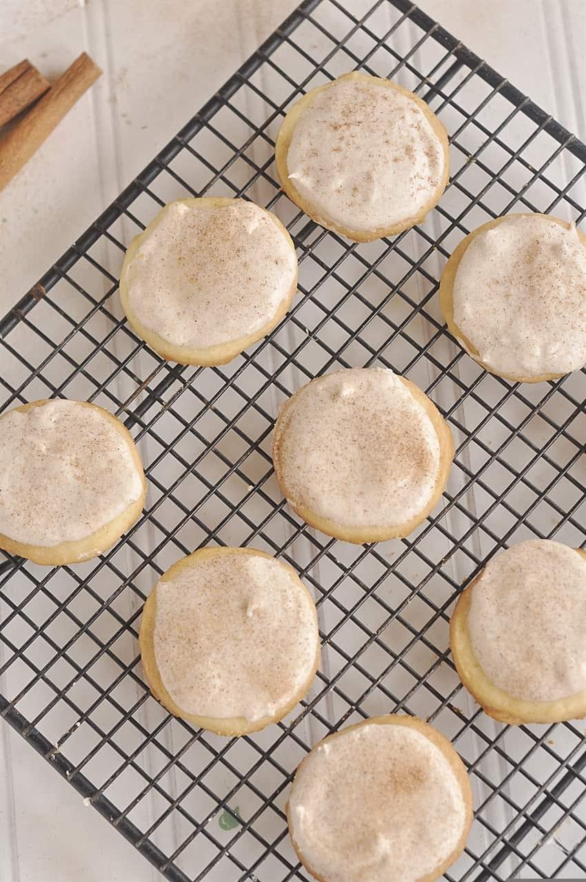 overhead shot of cinnamon butter cookies