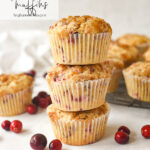 stack of cranberry muffins
