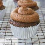 frosted nutella cupcake