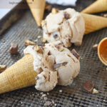 two candy bar ice cream cones