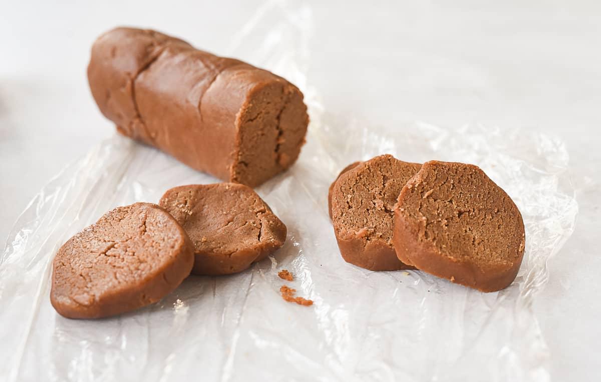 sliced chocolate cookie dough