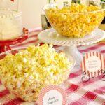 bowls of popcorn