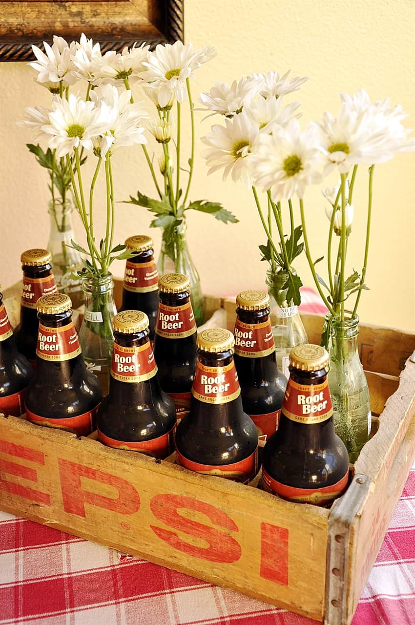 crate of Root beer