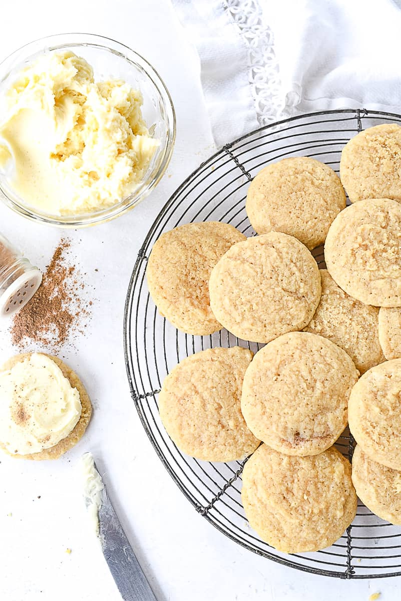 unfrosted egg nog cookies