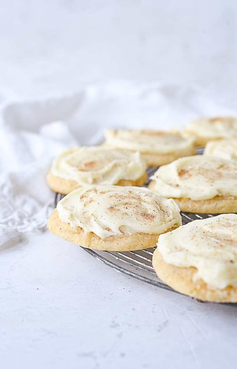 frosted egg nog cookies