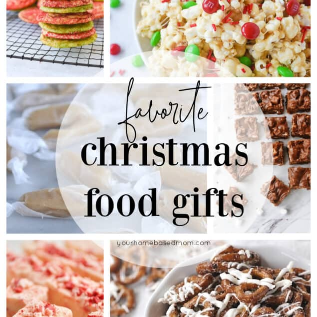 collage of food gift ideas